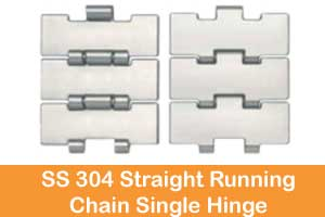 SS 304 Side flexing Chains Without Tab manufacturers