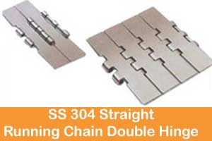 Stainless steel 304 straight running chain single hinge