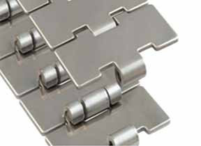 Manufacturers and exporter of 304 stainless steel flat top chain, SS 304 Side flexing Chains Without Tab